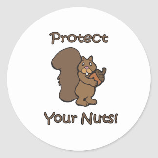 Protect Your Nuts Classic Round Sticker