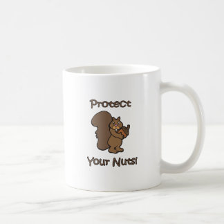 Protect Your Nuts Classic White Coffee Mug