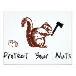 Protect Your Nuts Personalized Invitations