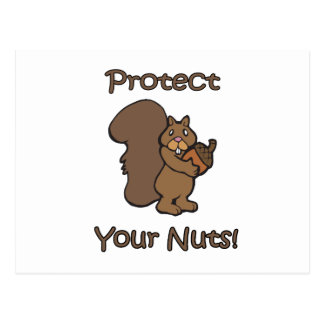 Protect Your Nuts Postcard