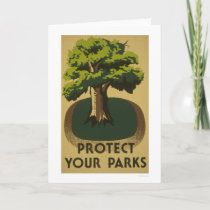 Protect Your Parks 1938 WPA Card