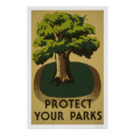 Protect Your Parks 1938 WPA Poster