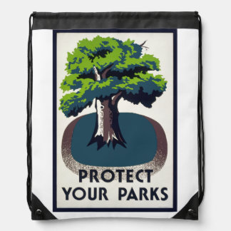 Protect Your Parks Drawstring Backpack
