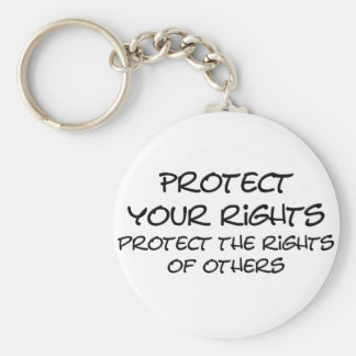 Protect your rights keychains