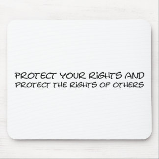 Protect your rights mouse pad