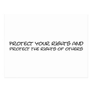 Protect your rights postcard