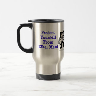 Protect Yourself From Zika Man by RoseWrites Travel Mug