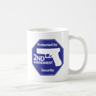 Protected by 2nd Amendment - Blue Classic White Coffee Mug