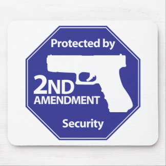 Protected by 2nd Amendment - Blue Mouse Pad