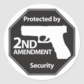 Protected by 2nd Amendment Classic Round Sticker