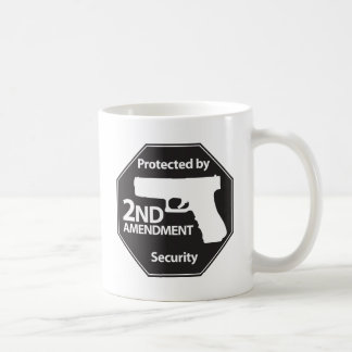 Protected by 2nd Amendment Classic White Coffee Mug