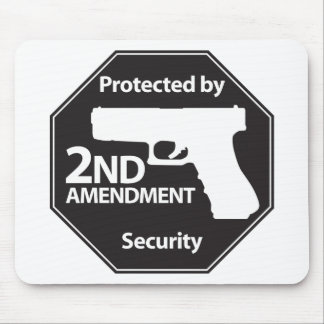 Protected by 2nd Amendment Mouse Pad