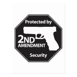 Protected by 2nd Amendment Post Cards