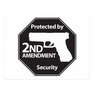 Protected by 2nd Amendment Postcard