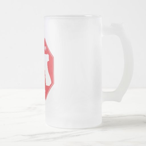Protected by 2nd Amendment - Red 16 Oz Frosted Glass Beer Mug