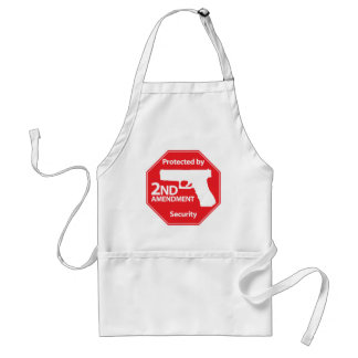 Protected by 2nd Amendment - Red Adult Apron