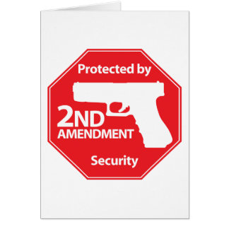 Protected by 2nd Amendment - Red Greeting Card