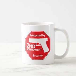 Protected by 2nd Amendment - Red Classic White Coffee Mug