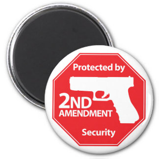 Protected by 2nd Amendment - Red Magnet