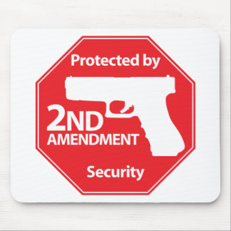 Protected by 2nd Amendment - Red Mouse Pad