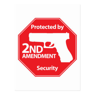 Protected by 2nd Amendment - Red Postcard