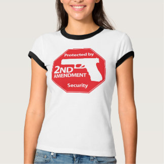 Protected by 2nd Amendment - Red T-Shirt