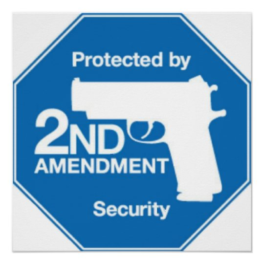 Protected by 2nd AMENDMENT Security Poster