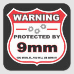 protected by 9mm shield stickers