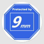 Protected by 9mm sticker