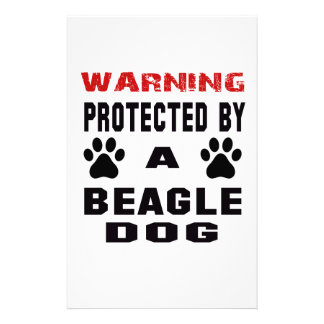 Protected By A Beagle Dog Stationery
