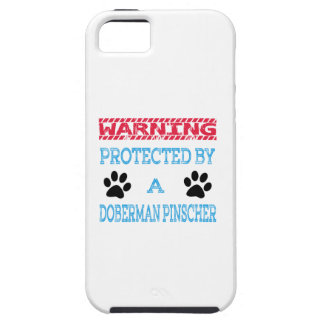 Protected By A Doberman pinscher Dog iPhone 5 Case
