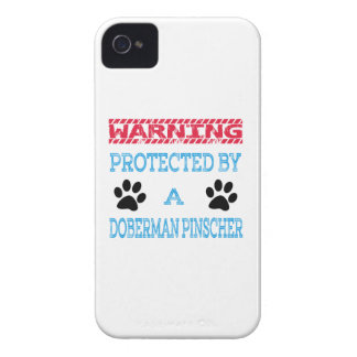Protected By A Doberman pinscher Dog Case-Mate iPhone 4 Cases