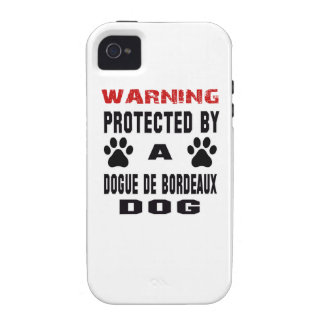 Protected By A Dogue de Bordeaux Dog Vibe iPhone 4 Covers
