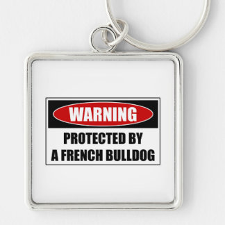 Protected By A French Bulldog Keychain