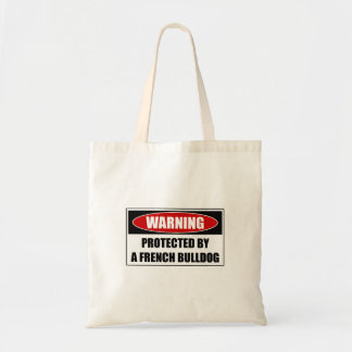 Protected By A French Bulldog Tote Bag