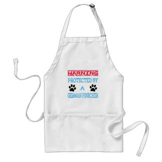 Protected By A German Pinscher Dog Standard Apron