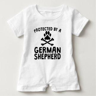 Protected By A German Shepherd Baby Romper