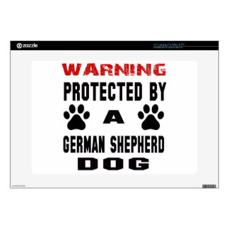 Protected By A German Shepherd Dog Laptop Skin