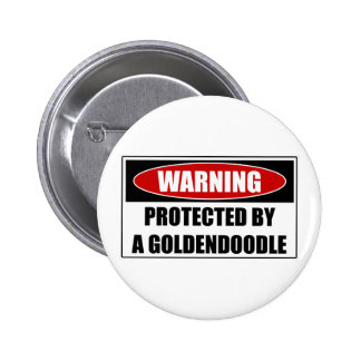 Protected By A Goldendoodle Pinback Button