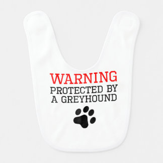 Protected By A Greyhound Baby Bib