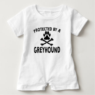 Protected By A Greyhound Baby Romper