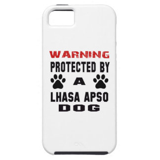 Protected By A Lhasa Apso Dog iPhone 5 Cases