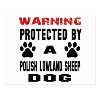 Protected By A Polish lowland sheepdog. Postcard