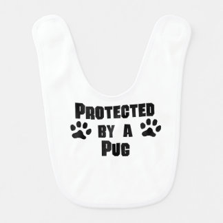 Protected By A Pug Baby Bib