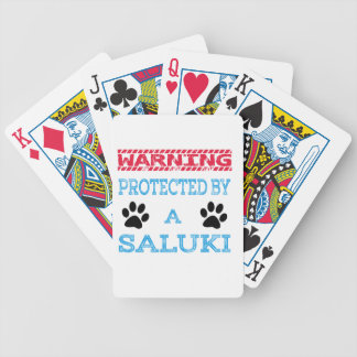 Protected By A Saluki Dog Bicycle Playing Cards