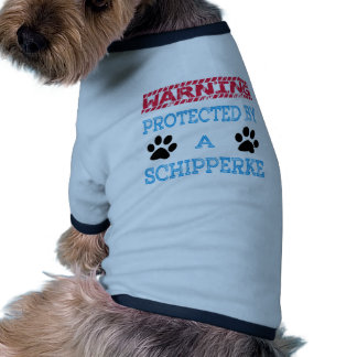 Protected By A Schipperke Dog Pet Tshirt