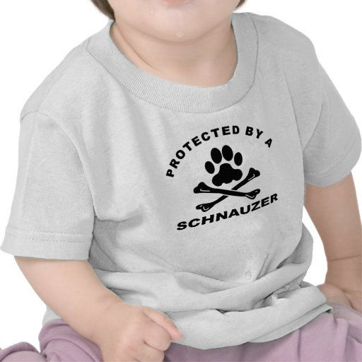 Protected By A Schnauzer Tee Shirts