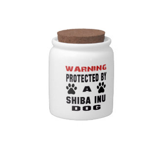 Protected By A Shiba Inu Dog Candy Jars