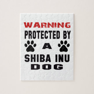 Protected By A Shiba Inu Dog Jigsaw Puzzle