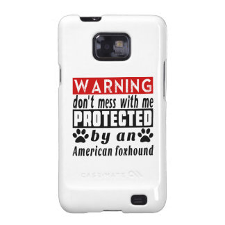 Protected By American foxhound Samsung Galaxy SII Cases